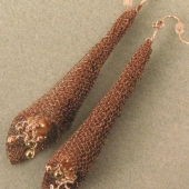 WireKnitZ Cone Earrings 
