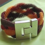 Braided Cuff by Barb Klann, member of Great Lakes Beadworkers Guild