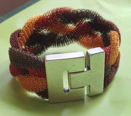 Braided Cuff by Barb Klann, Great Lakes Beadworkers Guild