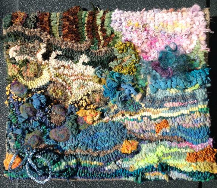 Rita Hammock's hooked rug